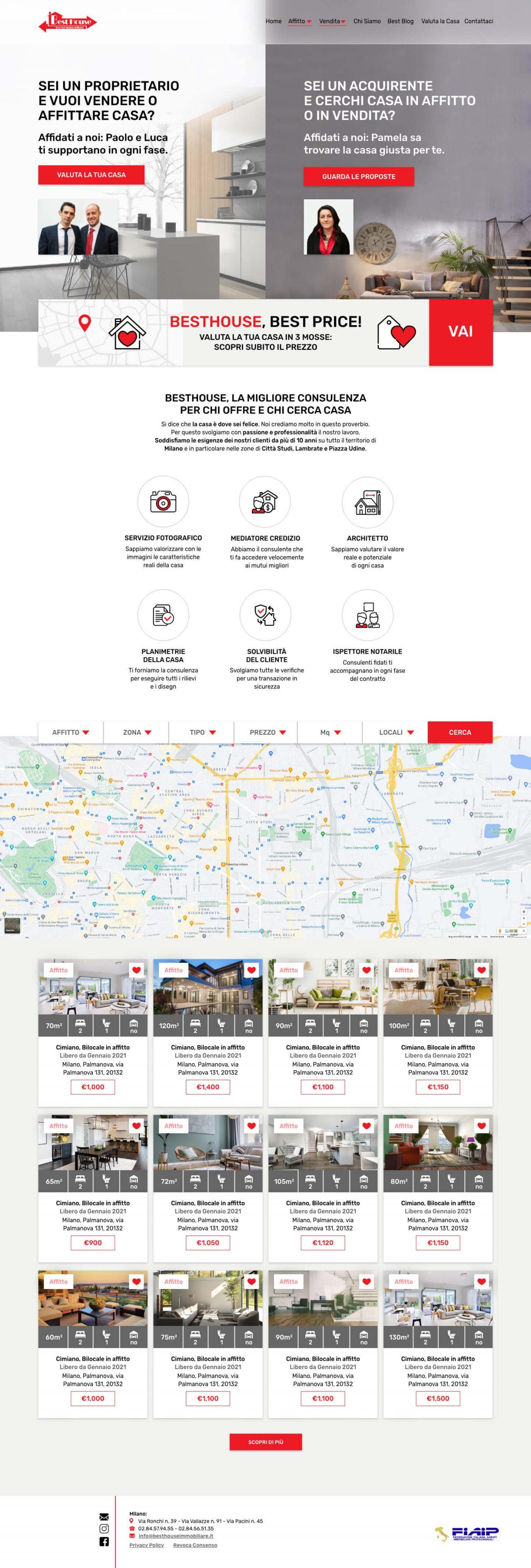 Best House - Web Design